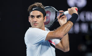 Roger Federer during his victory against Marin Cilic in the mens singles final on January 28, 2018 in Melbourne, Australia. Winning his 20th grand slam of his career, Roger Federer cried in front of the spectators on Rod Laver Arena.