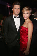Colin Jost and Scarlett Johansson attend The 2017 Museum Gala at American Museum of Natural History on November 30, 2017 in New York City.  (Photo by Sylvain Gaboury/Patrick McMullan via Getty Images)
