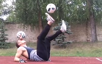 This guy has some amazing double soccer ball tricks!