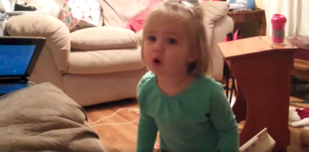 Toddler tells parents to stop kissing
