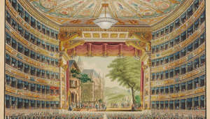 La Scala opera house in Milan, Festive Interior, 1830. Found in the collection of Theatre Museum, Vienna. (Photo by Fine Art Images/Heritage Images/Getty Images)