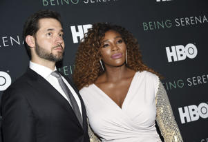 "Professional tennis player Serena Williams and husband Alexis Ohanian attend the premiere of HBO's ""Being Serena"" at the Time Warner Center on Wednesday, April 25, 2018, in New York. (Photo by Evan Agostini/Invision/AP)"