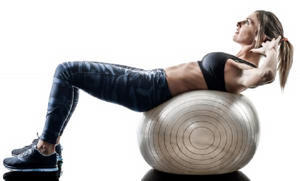 Crunches on a medicine ball are more effective than regular crunches (Stock)