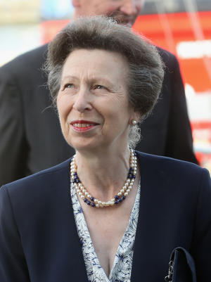 Princess Anne, Princess Royal, Admiral of the Royal London Yacht Club is seen during the Royal London Yacht Club Champagne Party at Lendy Cowes Week at the Royal London Yacht Club on August 6, 2018 in Cowes, England.