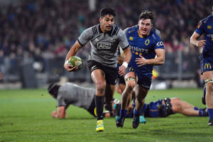 Rieko Ioane of the All Blacks