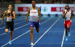 2018 European Championships - Men's 400 Meters, Final - Olympic Stadium, Berlin, Germany - August 10, 2018 - Matthew Hudson-Smith of Britain, Kevin Borlee of Belgium and Ricardo Dos Santos of Portugal in action. REUTERS/Michael Dalder