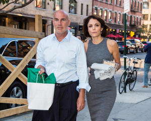 Dennis Shields and Bethenny Frankel are seen leaving SoHo House on June 14, 2016 in New York, New York.  (Photo by Alessio Botticelli/GC Images)