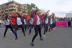 Flash mob on physical fitness in FTII