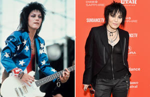 Joan Jett performing at the Beach Boys 4th of July Extravaganza in Philadelphia, Pennsylvania on July 4, 1985. (Photo by Ebet Roberts/Redferns); CAPTION: PARK CITY, UT - JANUARY 22: Singer Joan Jett attends the 'Bad Reputation' Premiere during the 2018 Sundance Film Festival at The Marc Theatre on January 22, 2018 in Park City, Utah. (Photo by Dia Dipasupil/Getty Images)