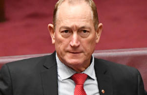 Independent Senator Fraser Anning during Senate Question Time.