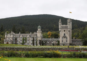 A general view of Balmoral Castle  in Aberdeen Scotland.