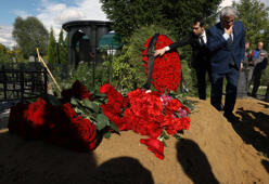 Funeral of journalist Orkhan Dzhemal at the Khovanskoye Cemetery. Russian journalists Kirill Radchenko, Alexander Rastorguyev and Orkhan Dzhemal were killed in the Central African Republic (CAR) on July 31, 2018.