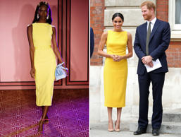 Brandon Maxwell show, Runway, Spring Summer 2018, New York Fashion Week, USA - 08 Sep 2017; Britain's Prince Harry, Duke of Sussex (R), Britain's Meghan, Duchess of Sussex arrive to attend a reception marking the culmination of the Commonwealth Secretariats Youth Leadership Workshop, at Marlborough House in London on July 5, 2018. (Photo by Yui MOK / POOL / AFP) (Photo credit should read YUI MOK/AFP/Getty Images)