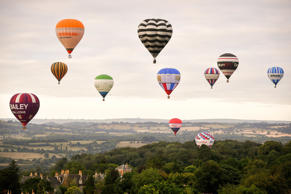 Balloons fly above Bristol, ahead of the Bristol International Balloon Fiesta 2018, which runs from August 9th to the 12th.