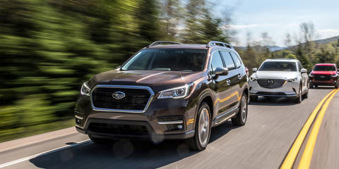 The Subaru Ascent finished second in our mid-size crossover comparison.