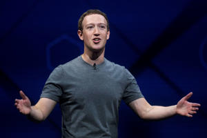 Facebook CEO Mark Zuckerberg speaks at his company's annual F8 developer conference in San Jose, Calif. Zuckerberg wrote in a Facebook post on May 21, 2017, that he's not running for public office. (AP Photo/Noah Berger, File)