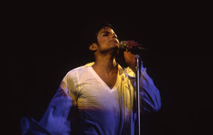 Los Angeles, CA- Jan 18, 1989 Michael Jackson performs live at LA Sports Arena.