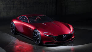 a red car: Mazda RX-Vision concept