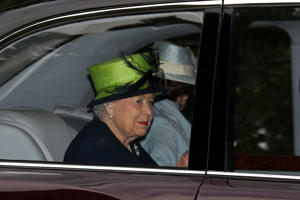 Queen Elizabeth II leaves Crathie Kirk in Scotland after attending a Sunday morning church service. Provided by PA