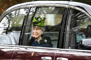 Queen Elizabeth II is driven to attend a service at Crathie Kirk Church on September 2, 2018 in Crathie, Aberdeenshire, Scotland. Queen Victoria began worshipping at the church in 1848 and every British monarch since has worshipped there while staying at nearby Balmoral Castle. (Photo by Jeff J Mitchell/Getty Images)