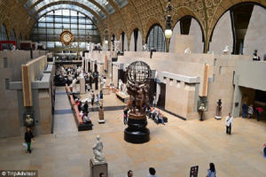 Inside the Musee d'Orsay in the French capital, Paris. It has been named the best museum in the world by TripAdvisor