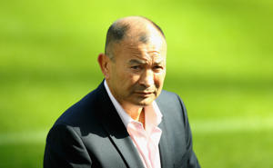 NEWCASTLE UPON TYNE, ENGLAND - SEPTEMBER 05:  Eddie Jones, the England head coach ,poses at the annoucement of a pre 2019 Rugby World Cup warm up match against Italy at St James' Park on September 5, 2018 in Newcastle upon Tyne, England.  (Photo by David Rogers/Getty Images)