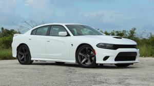 a car parked in a parking lot: 2018 Dodge Charger Hellcat: Review