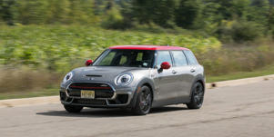 Curb Your Enthusiasm: 2018 Mini Cooper Clubman JCW: The Clubman is the wagon member in Mini's quirky clan of misfit autos, and the Mini Cooper Clubman JCW is the most powerful-and most expensive-rendition.