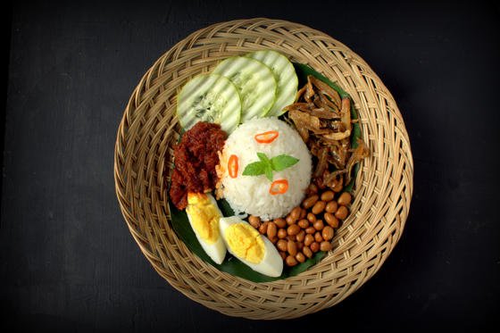 Slide 2 of 21: Nasi Lemak, Malaysian food