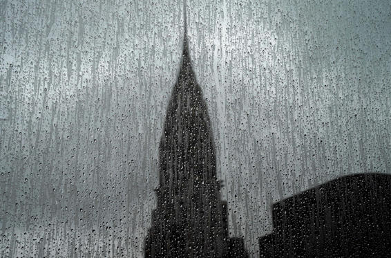 Slide 1 de 34: TOPSHOT - The Chrysler Building is seen through a rain covered high-rise window on August 13, 2018. - The Chrysler Building is an Art Decostyle skyscraper located on the East Side of Midtown Manhattan in New York City and one of the city landmarks. (Photo by TIMOTHY A. CLARY / AFP)        (Photo credit should read TIMOTHY A. CLARY/AFP/Getty Images)