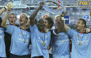 Sydney FC won the inaugural A-League championship after beating the Central Coast Mariners 1-0.