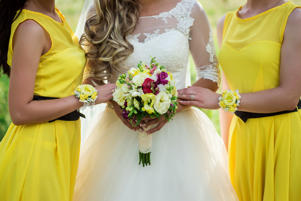 Expect for next year's weddings to be awash with hues as bright as the eye can see.