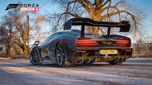 a motorcycle parked on the side of a road: Forza Horizon 4