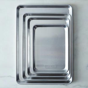 a close up of a pan: Nordic Ware Natural Aluminum Baking Sheets