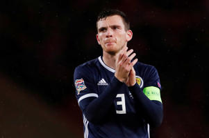 Soccer Football - UEFA Nations League - League C - Group 1 - Scotland v Albania - Hampden Park, Glasgow, Britain - September 10, 2018  Scotland's Andrew Robertson applauds during the match   Action Images via Reuters/Lee Smith