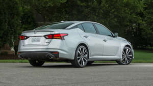 a car parked on the side of a road: 2019 Nissan Altima: First Drive