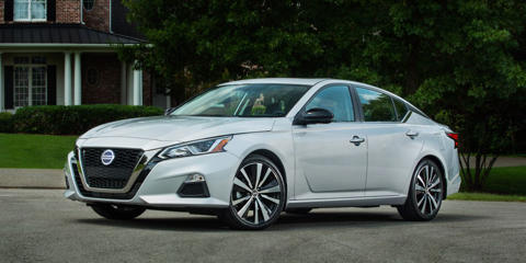 The new 2019 Nissan Altima adds optional all-wheel drive for the first time and swaps its V-6 for a high-tech turbocharged four-cylinder.