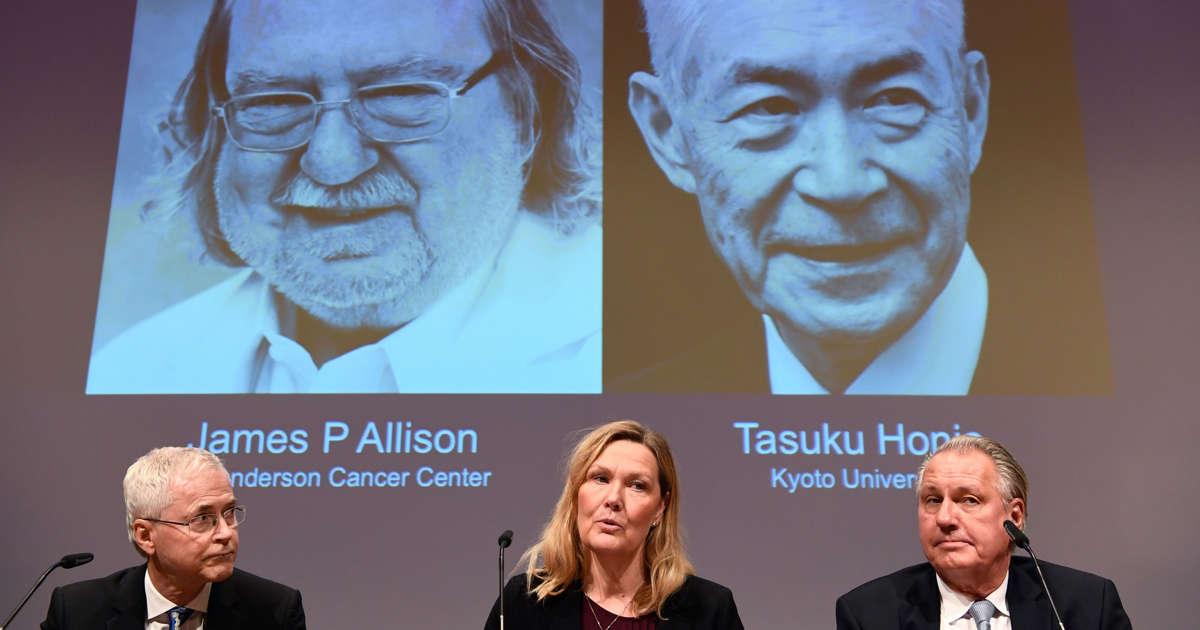James P Allison and Tasuku Honjo win Nobel prize for medicine