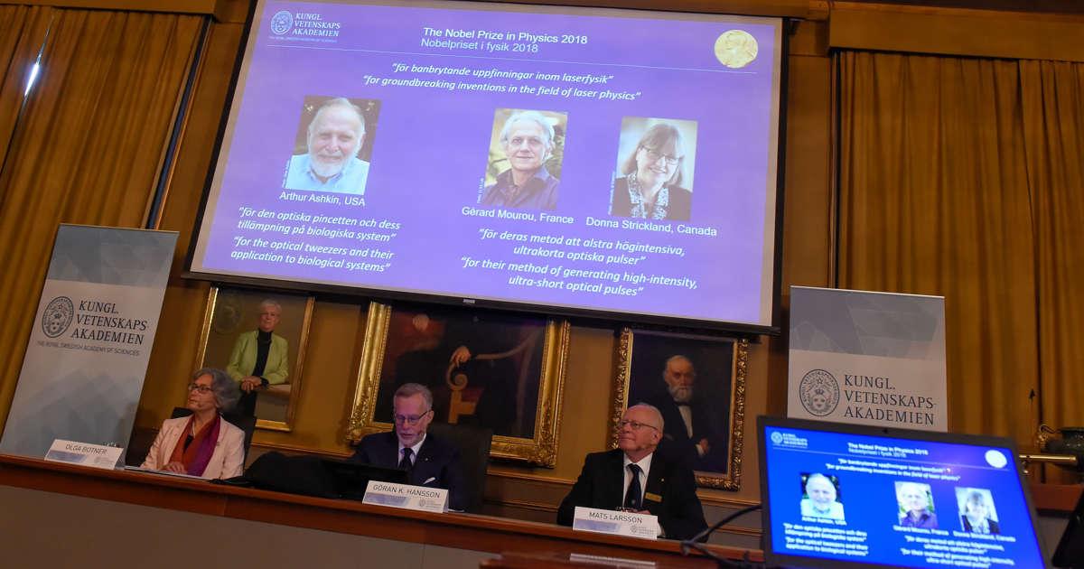 Ashkin, Mourou, Strickland win 2018 Nobel Physics Prize