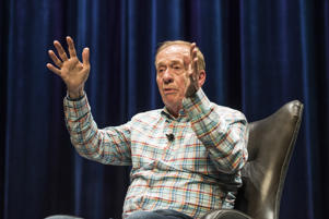 Geoff Emerick on stage at GRAMMY Museum in Mississippi.