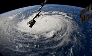 Hurricane Florence is seen from the International Space Station as it churns in the Atlantic Ocean towards the east coast of the United States, September 10, 2018.  NASA/Handout via REUTERS  ATTENTION EDITORS - THIS IMAGE WAS PROVIDED BY A THIRD PARTY      TPX IMAGES OF THE DAY