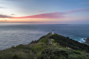 Lighthouse at Cape Reinga, at Sunset, Northland, North Island, New Zealand - provided by Shutterstock