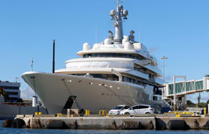 The Eclipse super yacht, owned by Russian businessman Roman Abramovich, is shown at the Port of Palm Beach in Riviera Beach, Florida, U.S. November 24, 2017. REUTERS/Joe Skipper