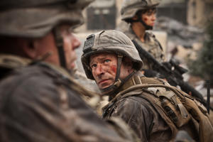 Aaron Eckhart in Battle Los Angeles.