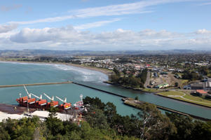 A view of Gisborne and its port.