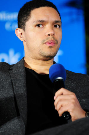 MIAMI, FL - NOVEMBER 13:  Trevor Noah speaks about his book 'Born a Crime' during 33rd Annual Miami Book Fair at Miami Dade College on November 13, 2016 in Miami, Florida.  (Photo by Johnny Louis/FilmMagic)