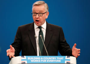 Britain's Secretary of State for Environment, Food and Rural Affairs Michael Gove