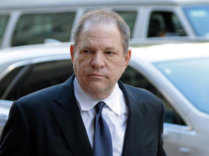 "FILe - In this July 9, 2018 file photo, Harvey Weinstein arrives to court in New York. A New York judge cited the long history of the casting couch in Hollywood as he approved for trial the sex trafficking claims of an aspiring actress against Weinstein. U.S. District Judge Robert W. Sweet said the lawsuit filed by Kadian Noble last fall was fairly brought under sex trafficking laws Congress passed that had an ""expansive"" definition of what could be considered a ""commercial sex act."" (AP Photo/Seth Wenig, File)"