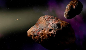 Rare double asteroid suggests our solar system had a violent start