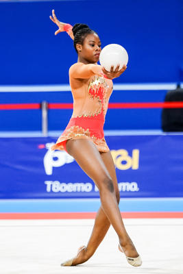 Palesa Mohlamme of South Africa during  Rhythmic Gymnastics World Championships at the Arena Armeec in Sofia at the 36th FIG Rhythmic Gymnastics World Championships  on 11/9/2018.